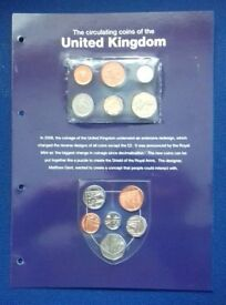 Coin sets of the UK 2008 Shield Shaped
