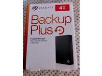 Seagate Back Up Plus 4tb Portable Hard Drive Brand New Sealed