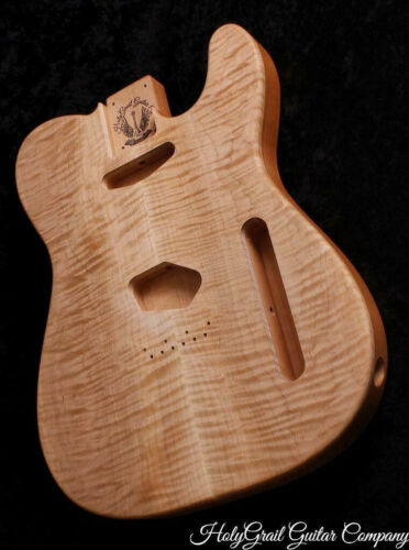 Telecaster Body • Flame Maple • Alder • Unfinished Tele Guitar Body / Pre-Order