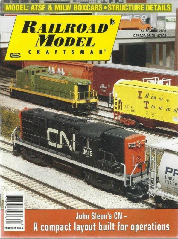 Railroad Model Craftsman June 2003 Chestnut Caboose Drawings Modeling Town Dumps