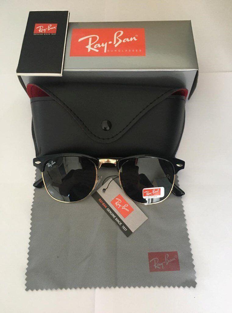 806ce236fc ... free shipping paypal accepted ray ban clubmaster sunglasses black black  bnib rayban sunglasses fd0e6 fcff4