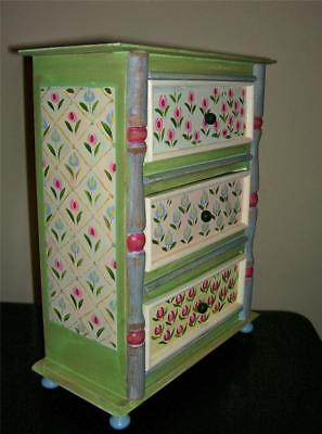 """Dresser Chest for 18"""" Girl Doll American Style Furniture 15"""" tall Bedroom Wood"""