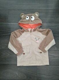 BOYS HOODED MONKEY BUSINESS COAT