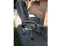 Black Leather Office Chair from Costco £70