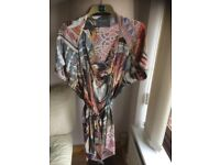 All Saints 100% pure silk handkerchief dress with matching belt in size 12