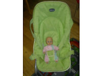 CHICCO POCKET RELAX BABY TRAVEL BOUNCER MULTI POSITION RECLINE FROM BIRTH
