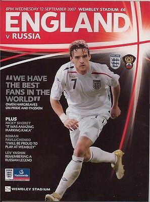 ENGLAND v RUSSIA WEMBLEY 2007