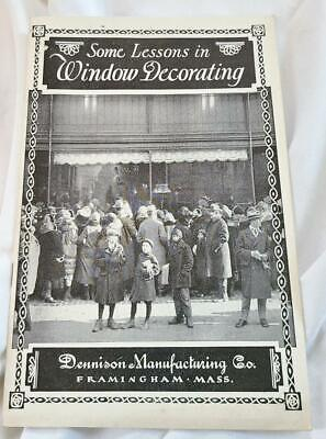 Vintage 1920s Dennison Manufacturing Some Lessons in Window Decorating Book