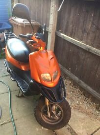 peugeot moped scooter 2 owners from new £500 TREKKER simular to street fighter