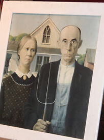American Gothic framed print