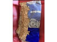 Half velvet an half net saree