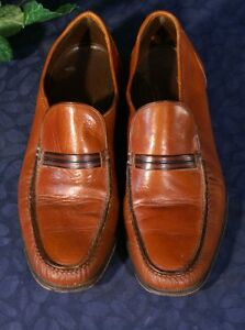 EUC-Vintage-FLORSHEIM-IMPERIAL-Soft-Chesnut-Brown-Loafers-US-9A