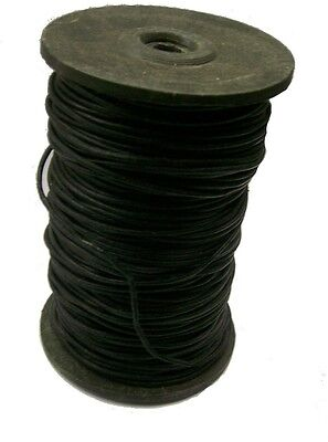 Lacing Black Round Leather 2 mm Leathercraft Jewelry Making Crafting 2 Yards