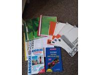 mix materiałów do nauki języka angielskiego