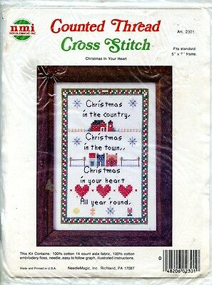 Christmas In Your Heart   Nmi Counted Cross Stitch Kit   5 X 7    New