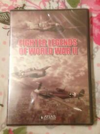 FIGHTER LEGENDS OF WORLD WAR 2 DVD. NEW AND SEALED.