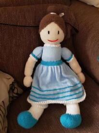 Knitted rag doll