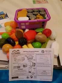 100 piece kids shopping basket