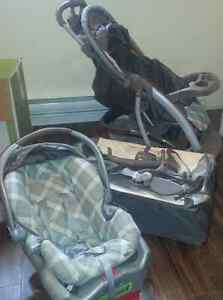 Graco playpen and stroller with baby car seat