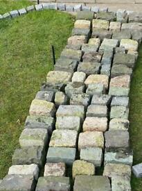 Granite cobbles / setts - reclaimed.