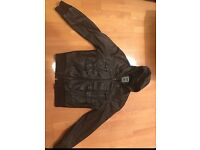 River Island Brown Leather Jacket -Size L