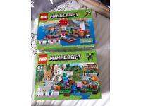 2 minecraft lego sets