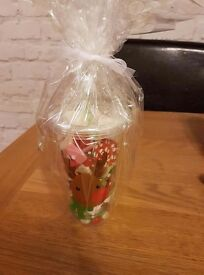 Sweet filled Christmas cups