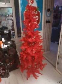 6ft red Christmas tree
