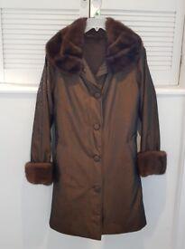 Real Mink Fur Coat Vintage Design