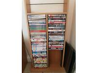 Collection of DVD's & tower