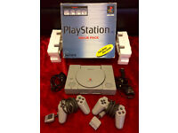 Play Station 1, PS1, 30Games, Steering Wheel
