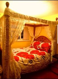 Bargain!! Four poster bed £250