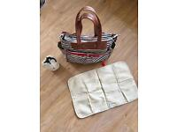 Babymel Cara stripe baby changing bag