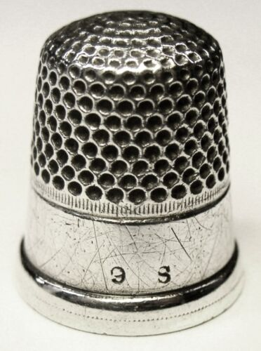 Antique Shepard Manufacturing Co. Sterling Silver Thimble  Wide Band  C1890s