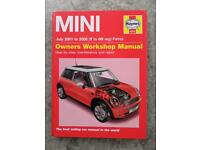 Haynes mini workshop manual 2001-2005 petrol
