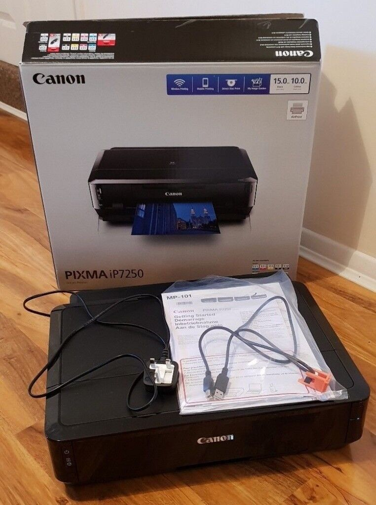 Canon PIXMA iP7250 WiFi,A4,USB Photo CD DVD Printer + 3 TRAYS+ Mobile  Printing + Apple AirPrint | in Leyton, London | Gumtree