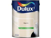 Lot of 4 unopened tins of Dulux Magnolia Silk Emulsion Paint 5L
