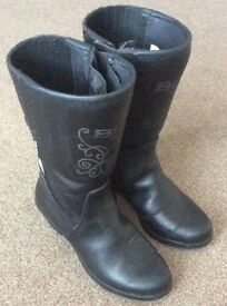 Ladies BKS Waterproof Leather Motorcycle Boots Size 6 As New