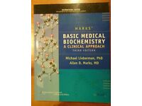 Book For Sale: Basic Medical Biochemistry A Clinical Approach Third soft Lieberman and Marks