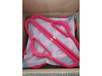Brand New Hot Pink Velvet Coathangers x 50