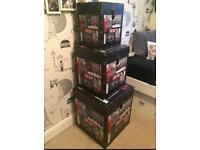 Set of 3 London storage boxed
