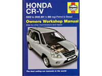 HAYNES HONDA CR-V MANUAL COVERS 2002 - 2006 PETROL & DIESEL