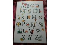 Children's alphabet canvas