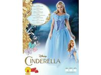 cinderella dress up size large brand new