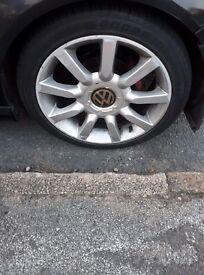 """Volkswagen 5x100/5x112, alloy wheels 17"""" x4."""