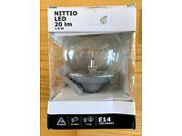IKEA NITTIO LED bulbs E14 Edison fitting 1.8W 20lm - Silver Base