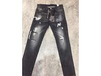 Brand New Mens Dsq Jeans Black 32-34 Waist £40
