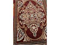 3) Brand New red carper rugs size 230 x 160 Cm carpet rugs £45