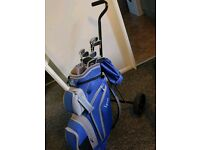 Lynx ladies Set of Blue golf clubs, right hand, great condition