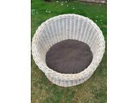 Large wicker oka dog basket